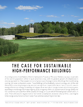 The Case for High-Performance Buildings Cover Page